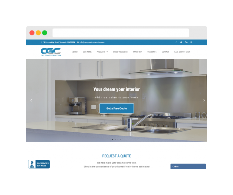 Website - Cape Granite Connection